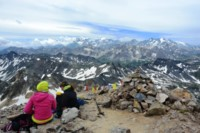 summit panorama with Ecrins from Mont Thabor europe